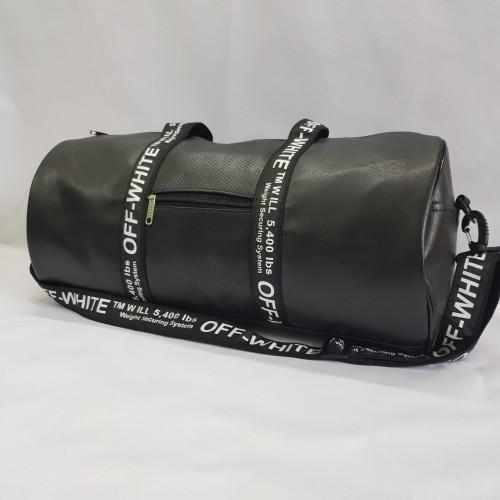 Спортивная сумка-бочка off white